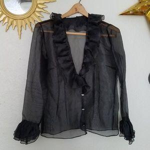 Vintage organza blouse